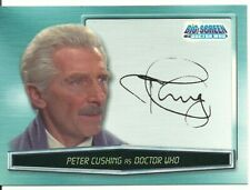 Doctor Who Big Screen Peter Cushing as Doctor Who Facsimile Autograph card A0