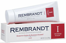 Rembrandt Intense Stain Toothpaste Mint Flavor 3.0 oz/ Free Worldwide Shipping