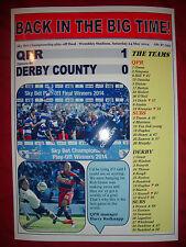 QPR 1 Derby County 0 - 2014 Championship play-off final - souvenir print