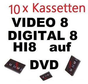 10 x VHS-C, Video 8, Hi8, MiniDV auf DVD digitalisieren