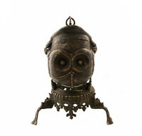 "Antico Kapala Tibetano 25cm-9 "" 8 Coppa Da Rituale Buddista Bronzo Skull Cup"