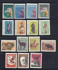 ALBANIA 1962 4 different commemorative sets VF MH
