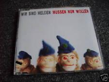 Wir sind Helden-Müssen nur wollen Maxi CD-Promosheet