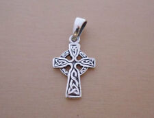 925 Sterling Silver Small Infinity CELTIC Gaelic Cross Pendant