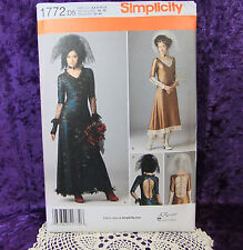 Simplicity 1772 Steampunk Goth Costume Pattern 2 looks Lace Back Dress 4-12 New