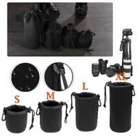 Shockproof Waterproof DSLR Camera Lens Pouch Bag Case For Sonny Canon Nikon S-XL
