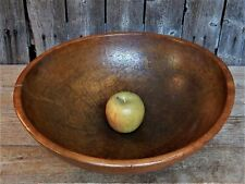 Old Vtg Large Centerpiece Wood Dough Bowl Primitive Farmhouse Wooden MUNISING
