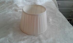 LAURA ASHLEY CREAM  PLEATED LAMPSHADE