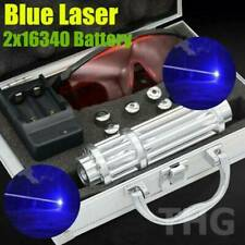 Powerful Blue Laser Pointers Burning Match Beam lit Laser Pen Torch 2x16340