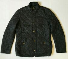 BARBOUR COAT JACKET DIAMOND QUILTED PUFFER FULL ZIP POCKETS BLACK SIZE S SMALL