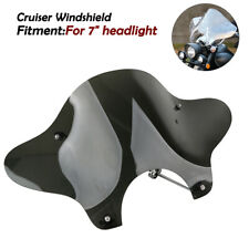 Universal Motorcycle Cruiser Windshield Windscreen with Mounting Kit For Cruiser