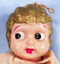 Vintage Celluloid Flapper Girl Doll Bobbed Hair 7 in Carnival Prize As Is Cond