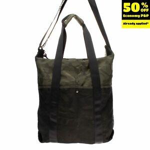 TOPMAN Shoulder Tote Bag Large Camouflage 'UNDEFINED' Mesh Front Pocket Zipped