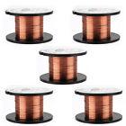 5pcs 0.1MM Copper Soldering Solder PPA Enamelled Repair Reel Wire 15m