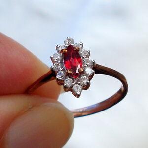 Beautiful Natural Malawi Ruby Rose Gold Engagement  Ring