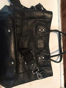 Will Leather goods bag With Laptop Sleeve And Travel Pillow EUC