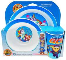 Go Jetters 3-Piece Dinner Set | Dinnerware | Tableware | Tumbler, Bowl and Plate