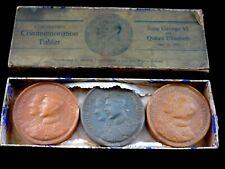 Very Rare 1937 King George V1 Three Coronation soap medallions in Original Box