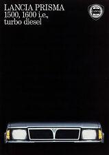 Prospekt Lancia Prisma 1500 1600 i.e. turbo diesel 7/86 Autoprospekt 1986 Auto