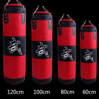 Heavy Boxing Punching Bag Speed Training Kicking Workout W/ Chain Hook