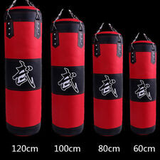 Heavy Boxing Punching Bag Speed Training Kicking Workout W/ Chain Hook