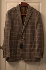 NWT Peter Millar Collection Sport Coat 44L Brown Plaid Partial Lining $998 MSRP
