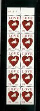 US 1994 LOVE POSTAGE STAMP UNFOLDED BOOKLET PANES MNH
