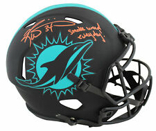 "Dolphins Ricky Williams ""SWE"" Signed Eclipse Full Size Speed Rep Helmet BAS Wit"