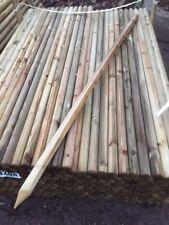 1.5m(5ft) x 40mm Machine round posts - tree stake/garden netting trellis