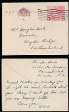 GB 1924 WEMBLEY STATIONERY CARD USED 25th APRIL PADDINGTON to NORTHUMBERLAND