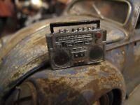 Koffer Radio Ghetto Blaster für Puppenstube Garage Diorama Deko Zubehör 1/18