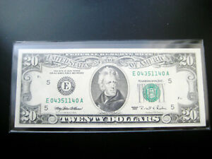 $20 1995 ((RICHMOND)) FEDERAL RESERVE NOTE CHOICE GEM UNC BU NOTE