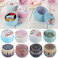 Rose Pot Tin Box Small Candy Box Drum-shaped Candy Box Festive Party Supplies -