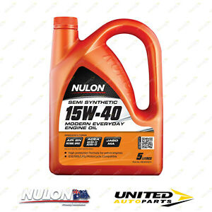 NULON Semi Synthetic 15W-40 Engine Oil 5L for RENAULT 15TS 17TL 1.6L 1973-1976