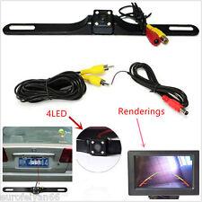 Voiture plaque d'immatriculation ir vision nuit 4LED caméra de vision arrière parking cmos caméra kit