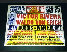 Harrisburg wrestling poster 1970 WALDO VON ERICH KILLER KOWALSKI KOLOFF RIVERA