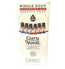 Guru Nanda Whole Body Essential Oil Benefit Pack Therapeutic Grade