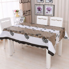 Household Waterproof PVC Tablecloth Dining Table Cover Protector 137x183cm Tool