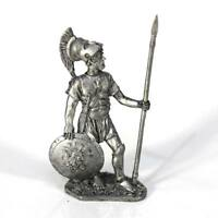 """Tin toy soldier """"Greek Hoplite, 4th cent. BC"""" metal sculpture 1/32 (54mm) #A7"""