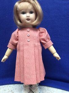 Bleuette Dolls Mauve Print A-Line Front Pleated Dress