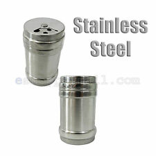 2 Pcs Stainless Steel Shaker Salt and Pepper Spice Kitchen ware EF12