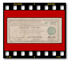 PHILIPPINES PROVINCE NEGROS CURRENCY BOARD P-S664 1945 20 PESOS WWII