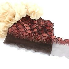 1 Meter of deep red lace sequin trim for clothing and crafts