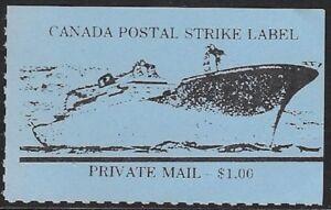 Canada Cinderella: cc5160 Canada Postal Strike 1981 - $1.00 blue, MNH - dw817i