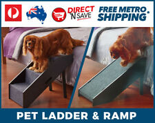 2 in 1 Deluxe Dog Steps Ramp Pet Transport Access Car SUV Bed Folding PawsLife