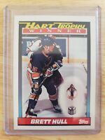 1991-92 Topps HART TROPHY WINNER Brett Hull St. Louis Blues Card #516