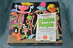 CREEPLE PEEPLE THINGMAKER w/ ORIGINAL BLACKLIGHT ART, PLASTIGOOP, MANUAL & MORE
