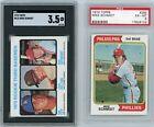 2-Card Mike Schmidt Lot 1973 Topps #615 Rookie SGC 3.5 & 1974 Topps #283 PSA 6