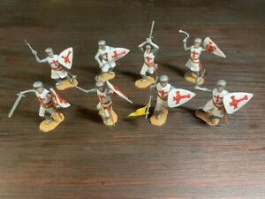 Timpo 2nd Series Crusaders/ Knight of St John - Complete Set - Medieval -1970's