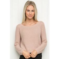Last onet! Brandy Melville Pink Cropped Cable Knit Gwen sweater NWT S/m